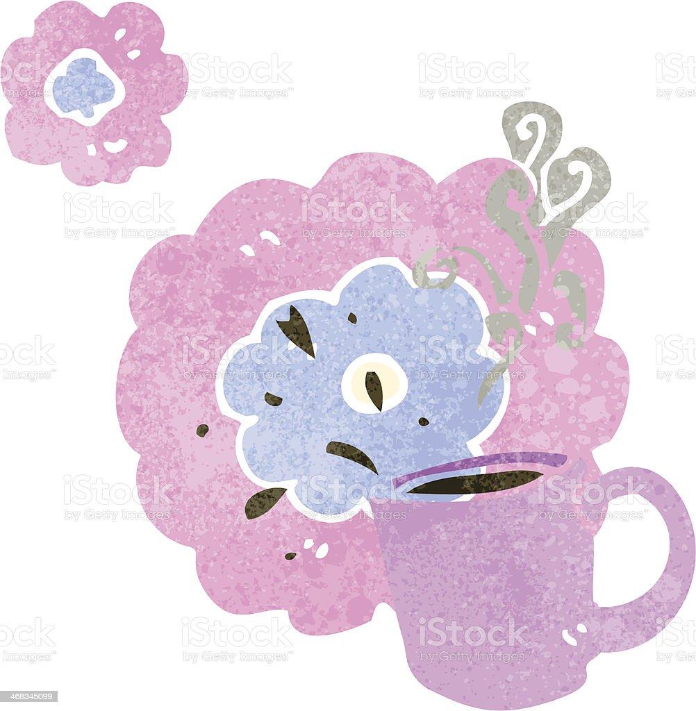 retro cartoon coffee cup royalty-free retro cartoon coffee cup stock vector art & more images of bizarre