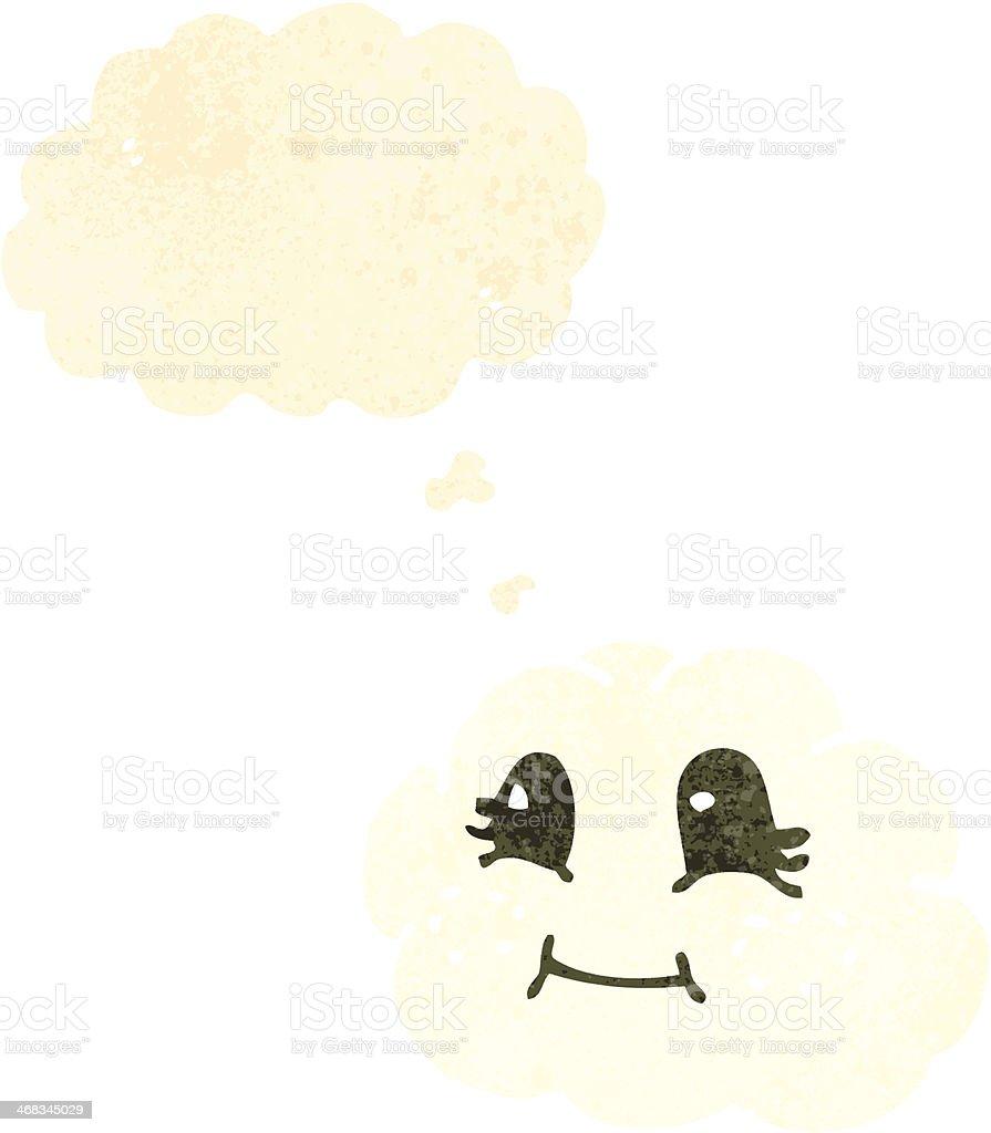 retro cartoon cute cloud royalty-free retro cartoon cute cloud stock vector art & more images of bizarre