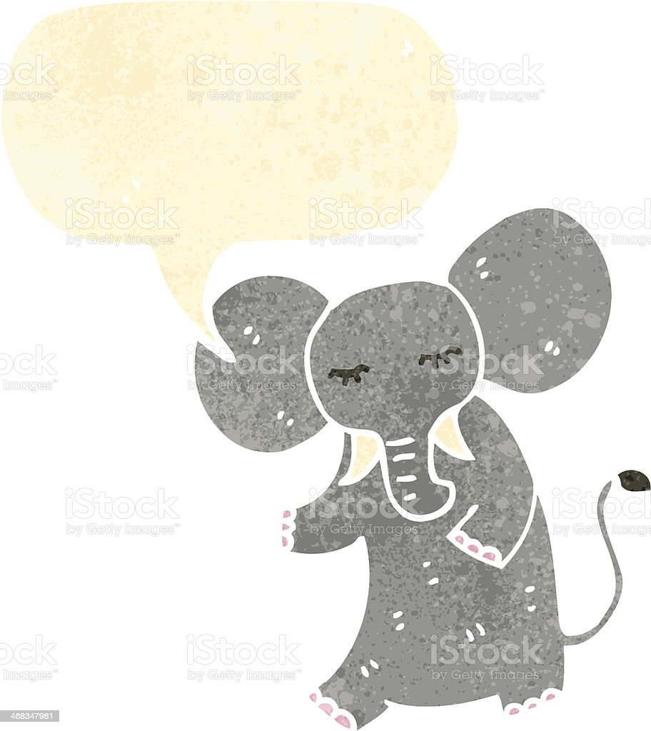 retro cartoon elephant with speech bubble royalty-free retro cartoon elephant with speech bubble stock vector art & more images of bizarre