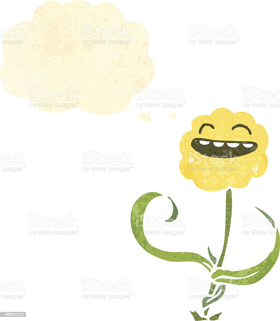 retro cartoon flower royalty-free retro cartoon flower stock vector art & more images of bizarre