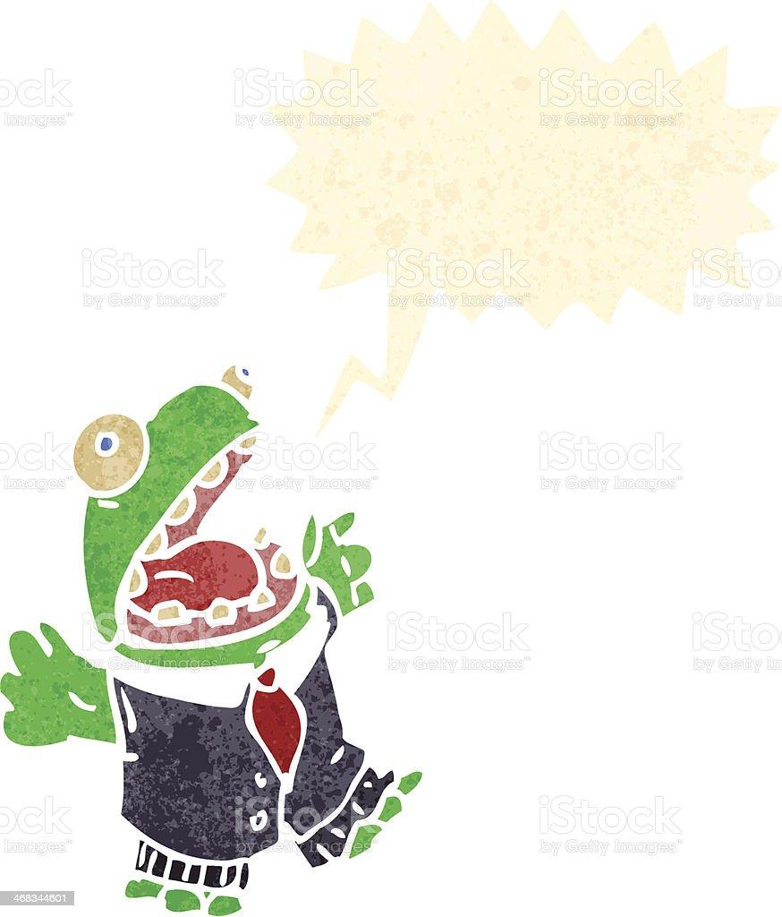 retro cartoon frog in suit royalty-free retro cartoon frog in suit stock vector art & more images of bizarre
