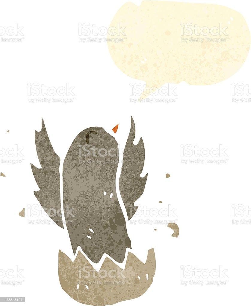 retro cartoon hatching bird royalty-free retro cartoon hatching bird stock vector art & more images of bird