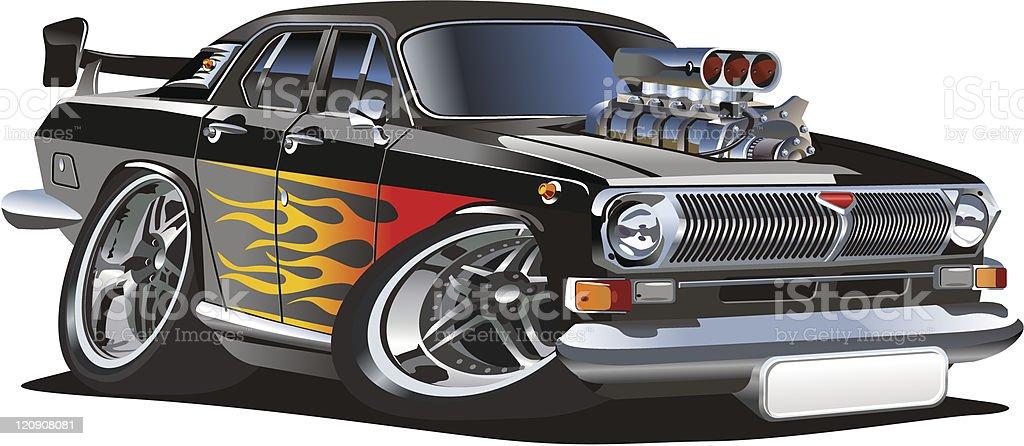 Retro cartoon hotrod royalty-free stock vector art