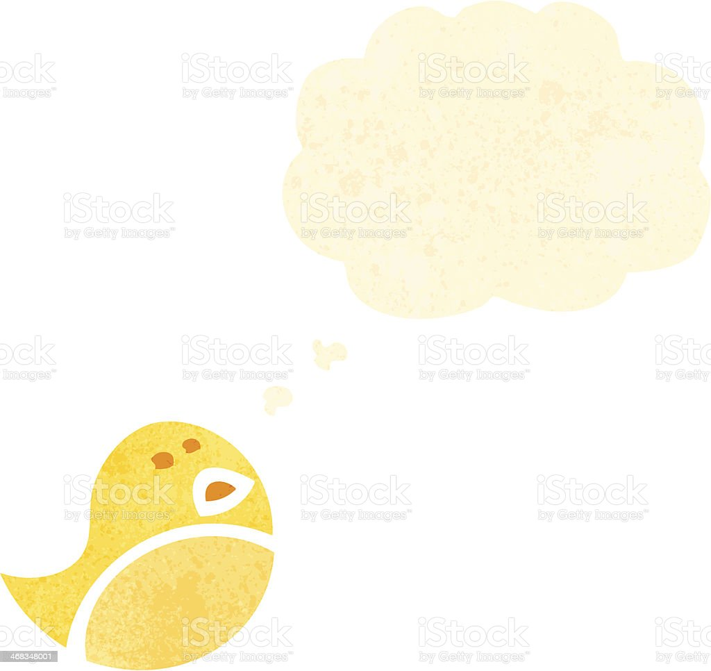 retro cartoon little yellow bird royalty-free retro cartoon little yellow bird stock vector art & more images of bird