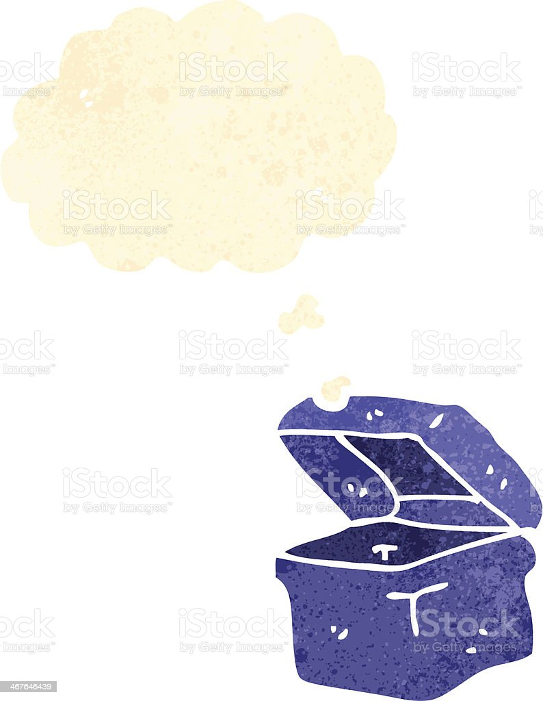 レトロカットイラストランチボックスの文字 - イラストレーションの