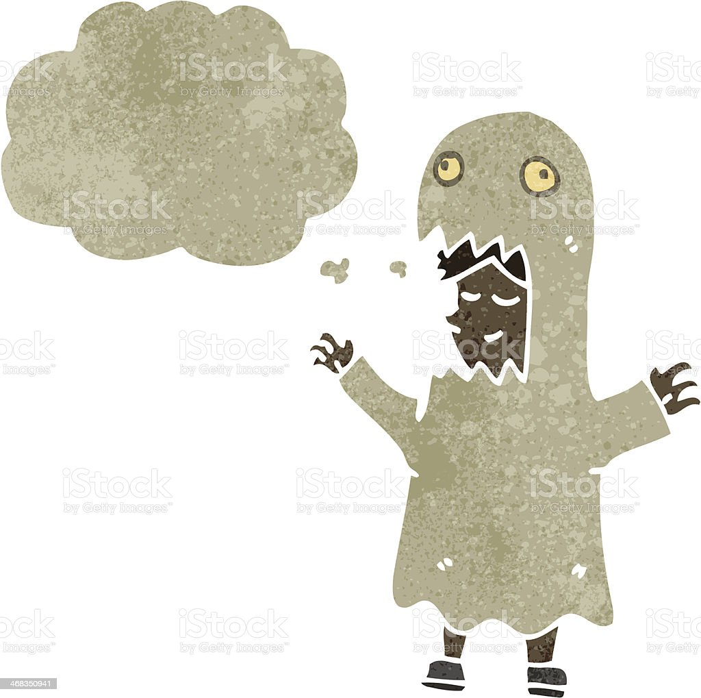 retro cartoon man wearing ghost costume royalty-free retro cartoon man wearing ghost costume stock vector art & more images of adult