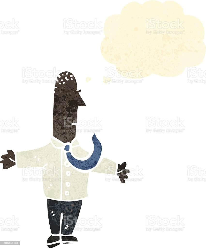 retro cartoon man with thought bubble royalty-free retro cartoon man with thought bubble stock vector art & more images of adult