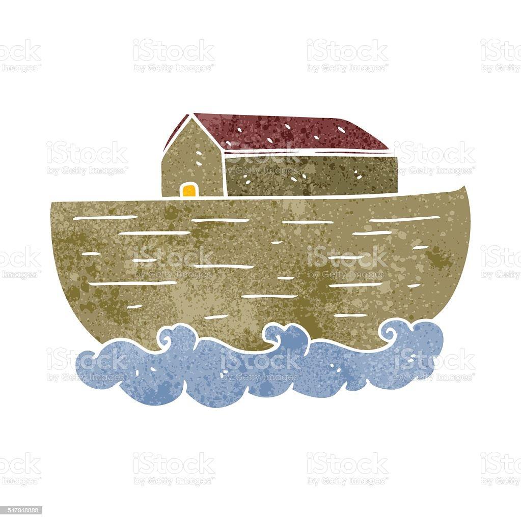 Ilustración de Retro Cartoon Noahs Ark y más banco de imágenes de ...