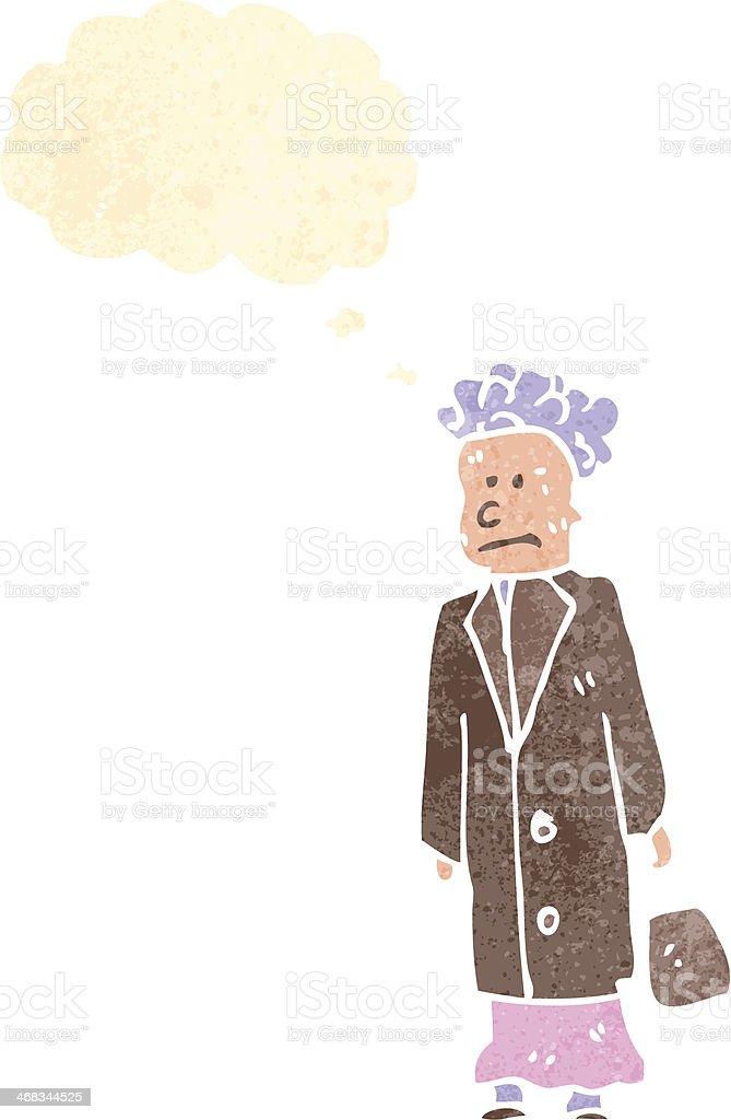 retro cartoon old woman royalty-free retro cartoon old woman stock vector art & more images of adult