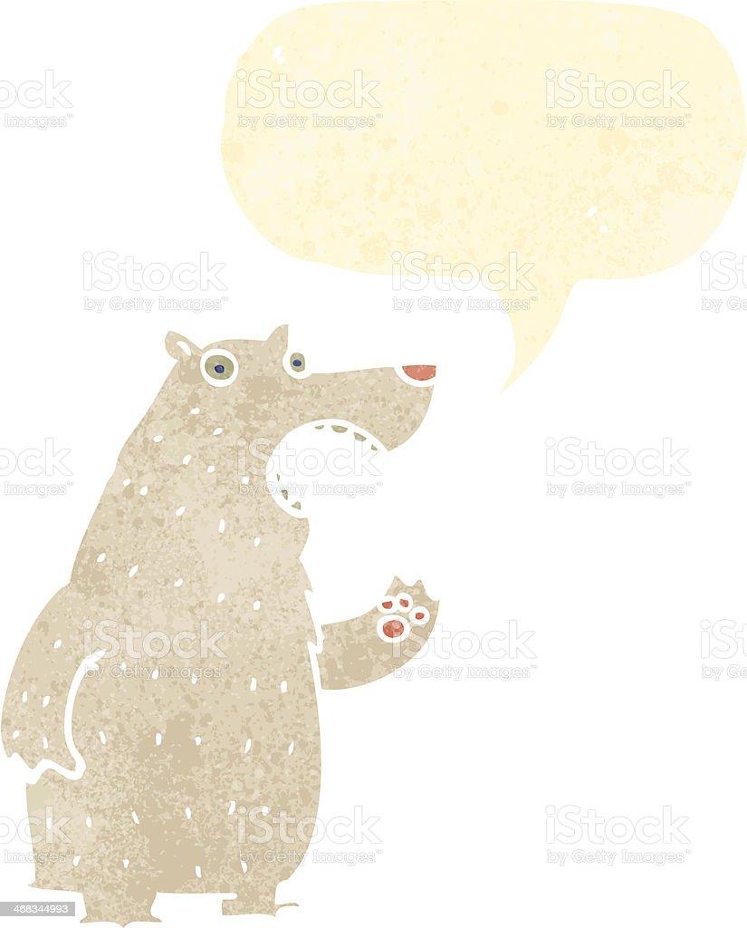 retro cartoon polar bear royalty-free retro cartoon polar bear stock vector art & more images of animal