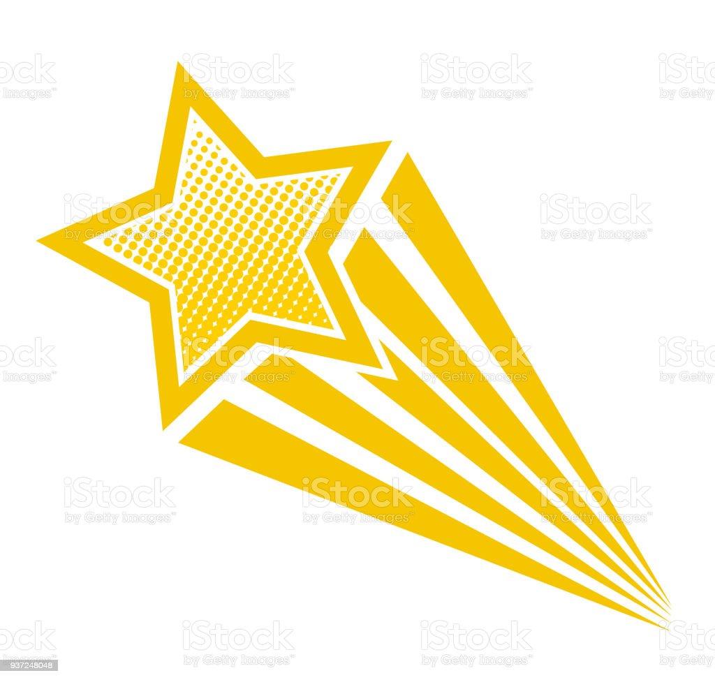 retro cartoon pop art comic style shooting star stock vector art rh istockphoto com shooting star cartoon clip art shooting star cartoon gif