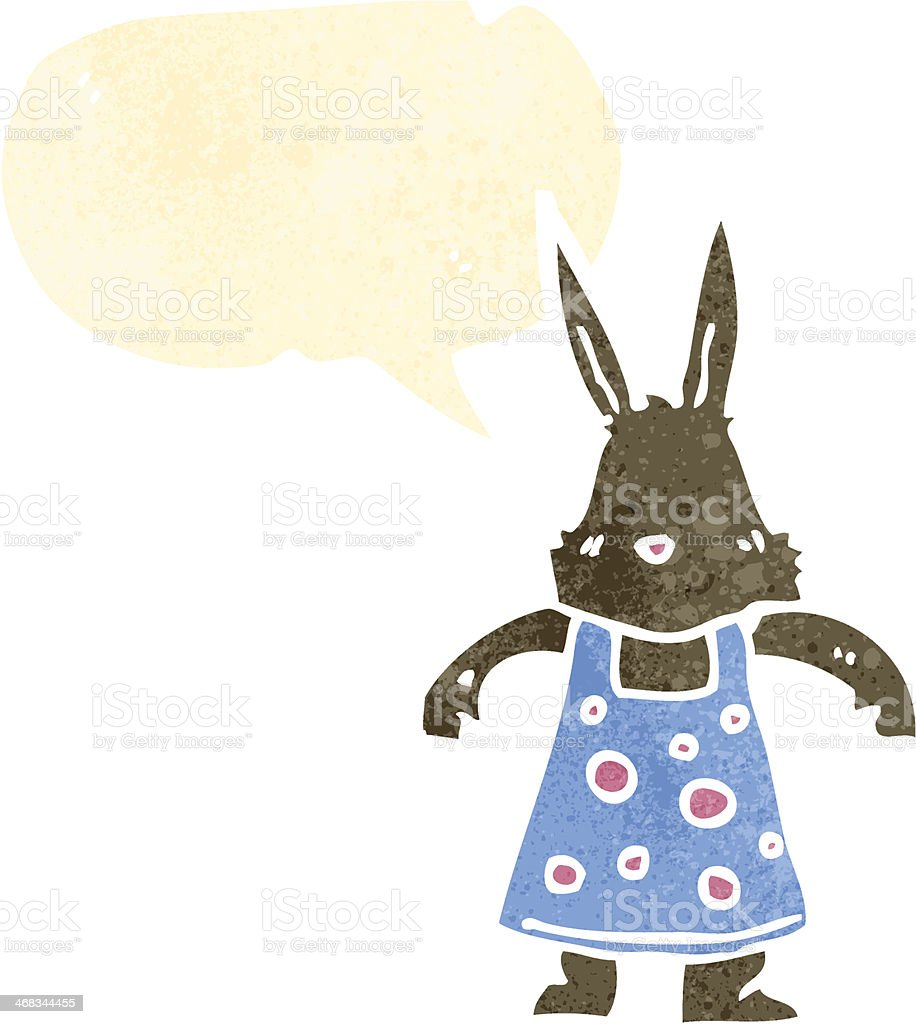 retro cartoon rabbit in dress royalty-free retro cartoon rabbit in dress stock vector art & more images of bizarre