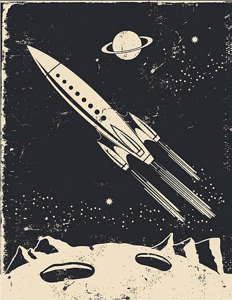 Retro Rocket Illustrations, Royalty-Free Vector Graphics ...