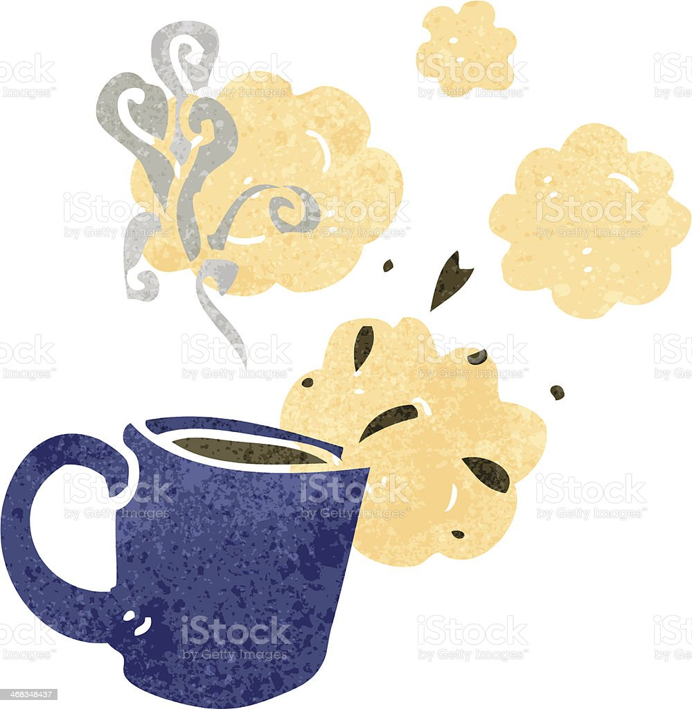retro cartoon steaming hot mug royalty-free retro cartoon steaming hot mug stock vector art & more images of bizarre