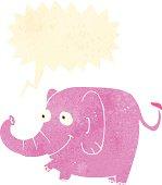 retro cartoon trumpeting elephant