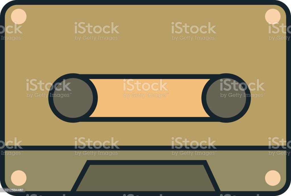 Retro cassette. Vector vector art illustration