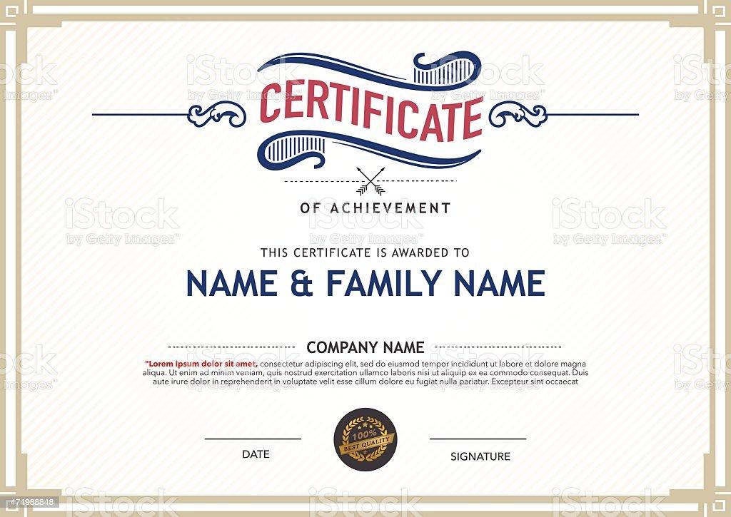 Retro certificate design template stock vector art more images of retro certificate design template royalty free retro certificate design template stock vector art amp yelopaper Gallery