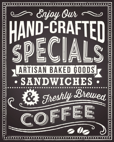Retro chalkboard background with editable text