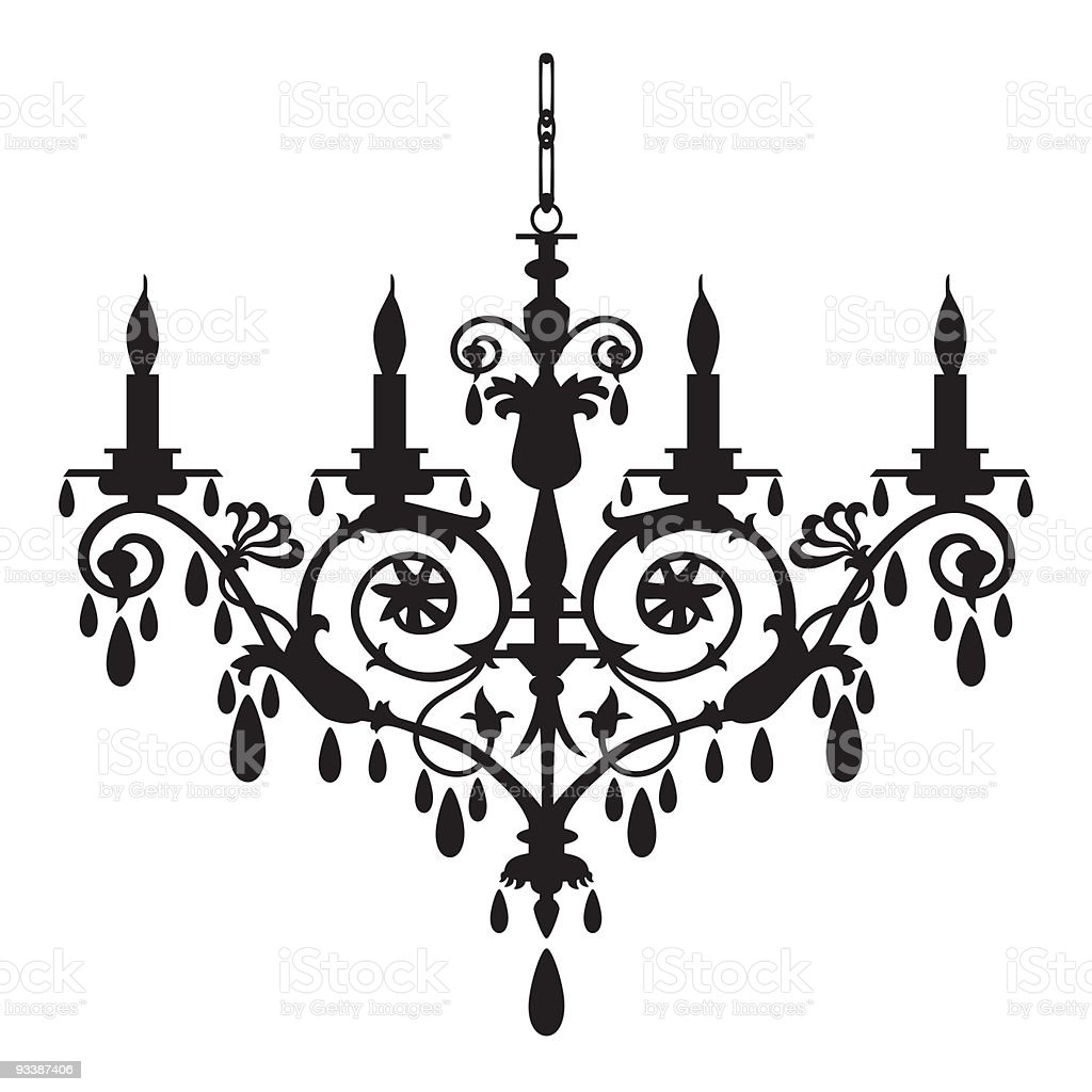 retro chandelier silhouette stock vector art  u0026 more images of ancient 93387406