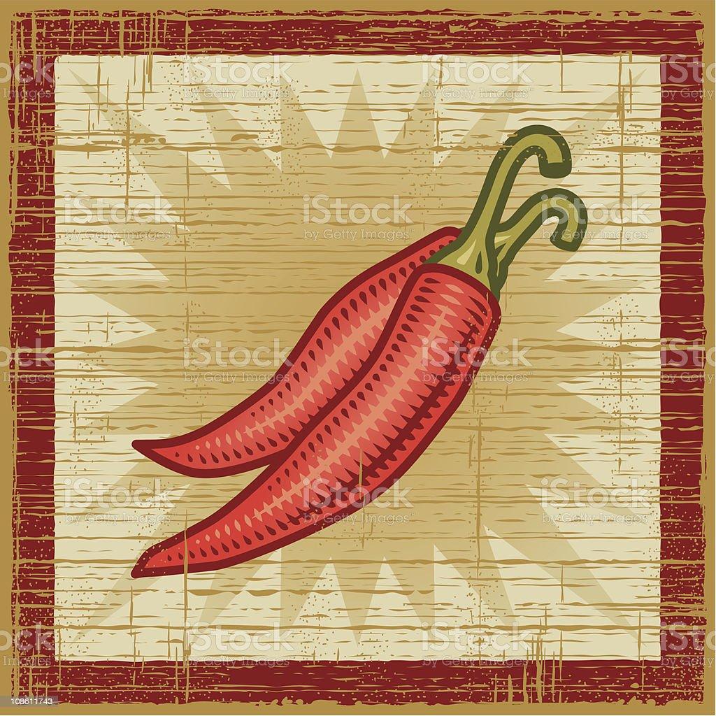 Retro chili pepper royalty-free stock vector art