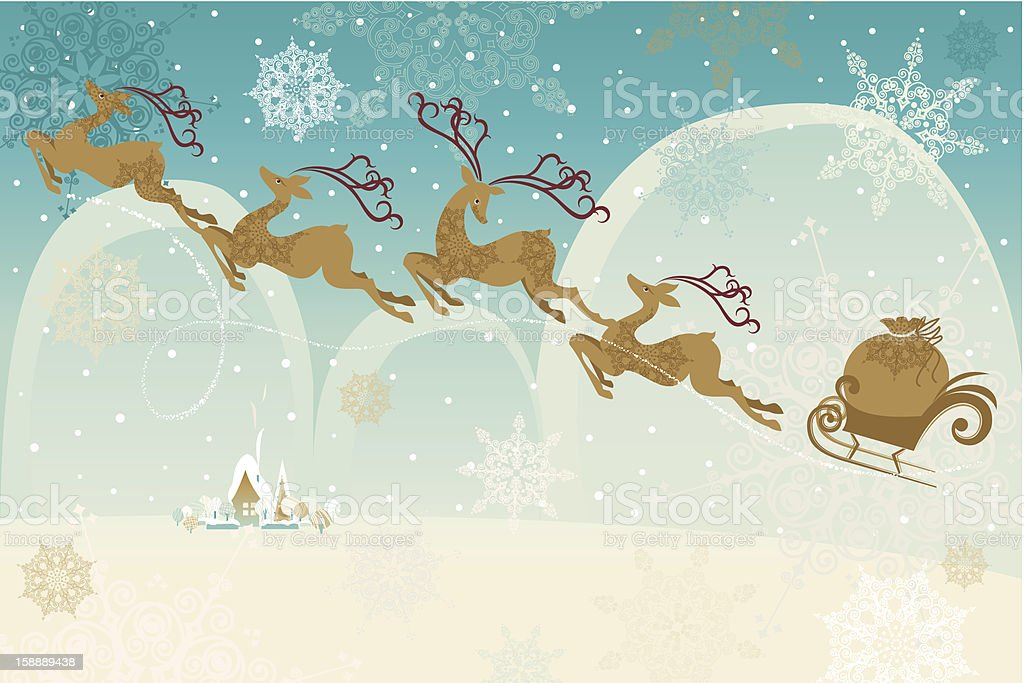 Retro Christmas Background vector art illustration