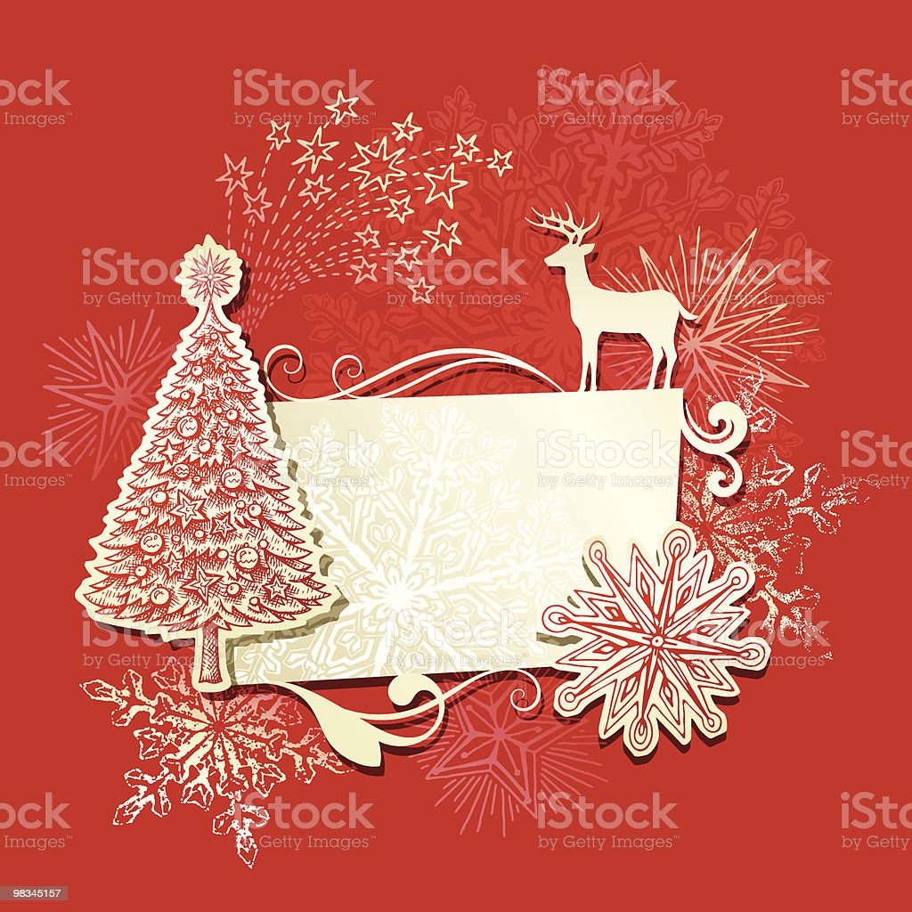 Retro Christmas banner royalty-free retro christmas banner stock vector art & more images of animal themes