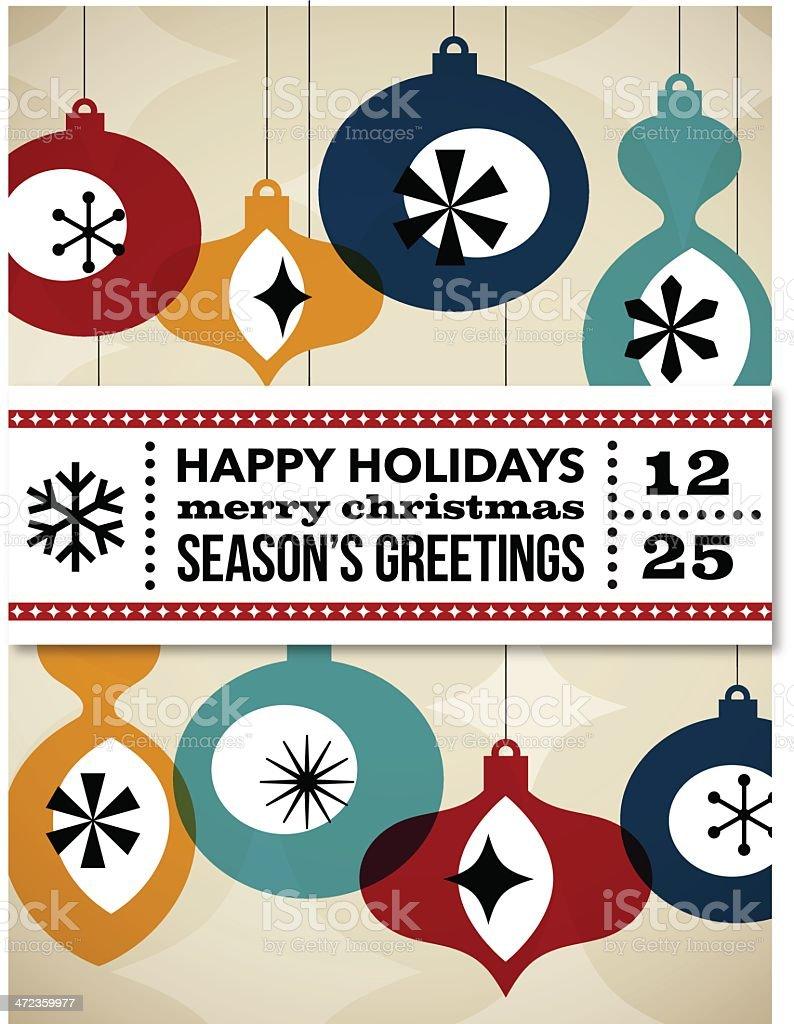 Retro Christmas Card royalty-free stock vector art