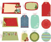 retro Christmas gift tags are great for scrapbooking or gift giving! See my portfolio for other retro holiday patterns and gift tags. Includes high res JPEG, eps8 & CS2 files.