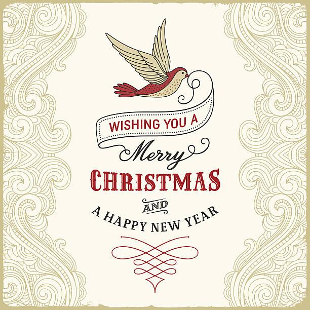 Retro Christmas Greetings Background vector art illustration
