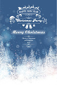 drawn of vector christmas placard.This file has been used illustrator cs3 EPS10 version feature of multiply.