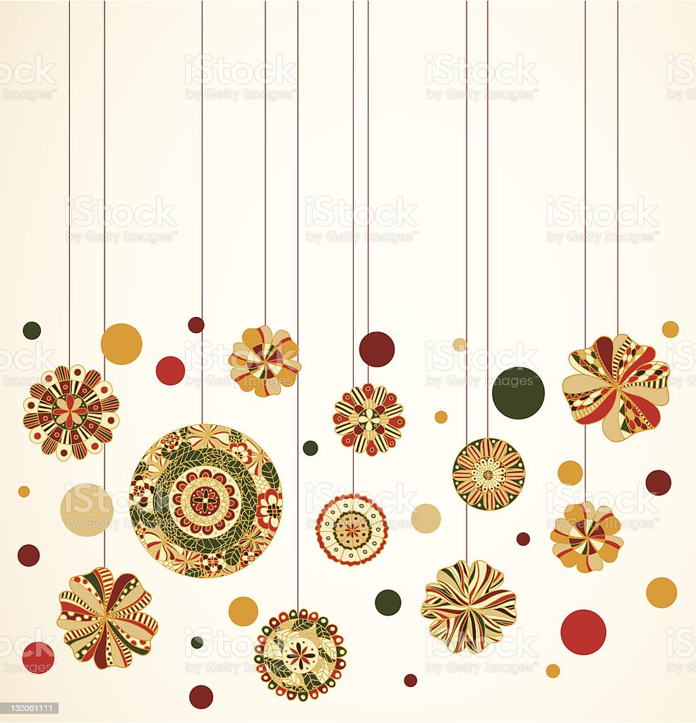 Retro Christmas Ornaments royalty-free stock vector art