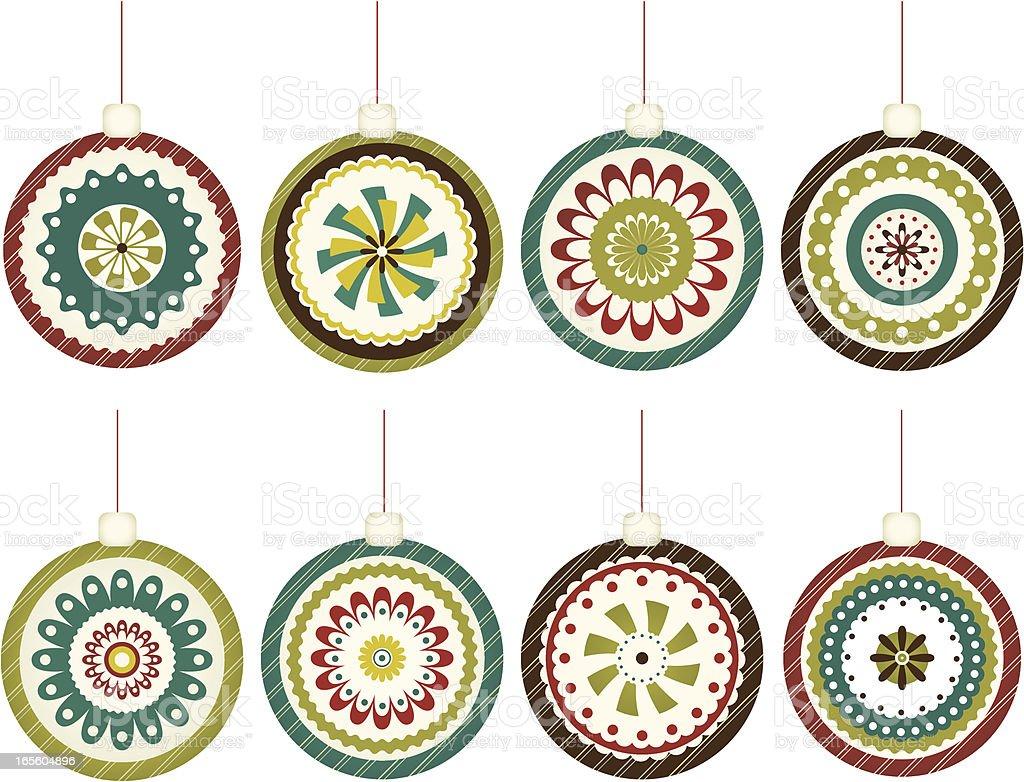 Retro Christmas Ornaments royalty-free stock vector art