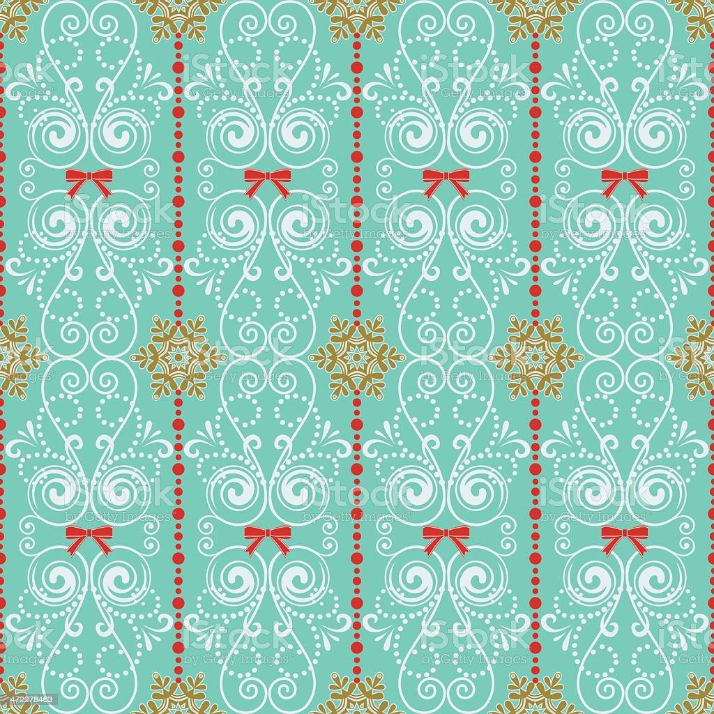 Retro Christmas Seamless Background royalty-free stock vector art