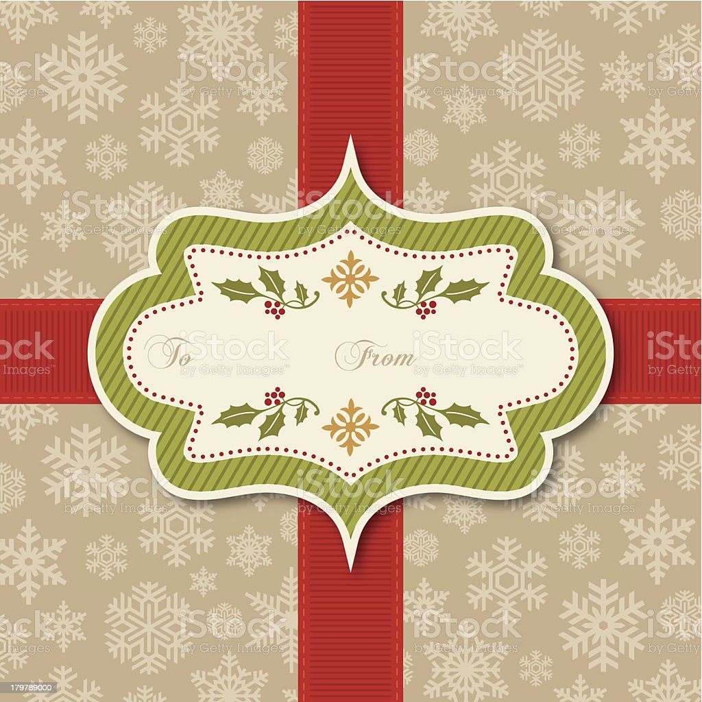Retro Christmas Tag royalty-free retro christmas tag stock vector art & more images of backgrounds