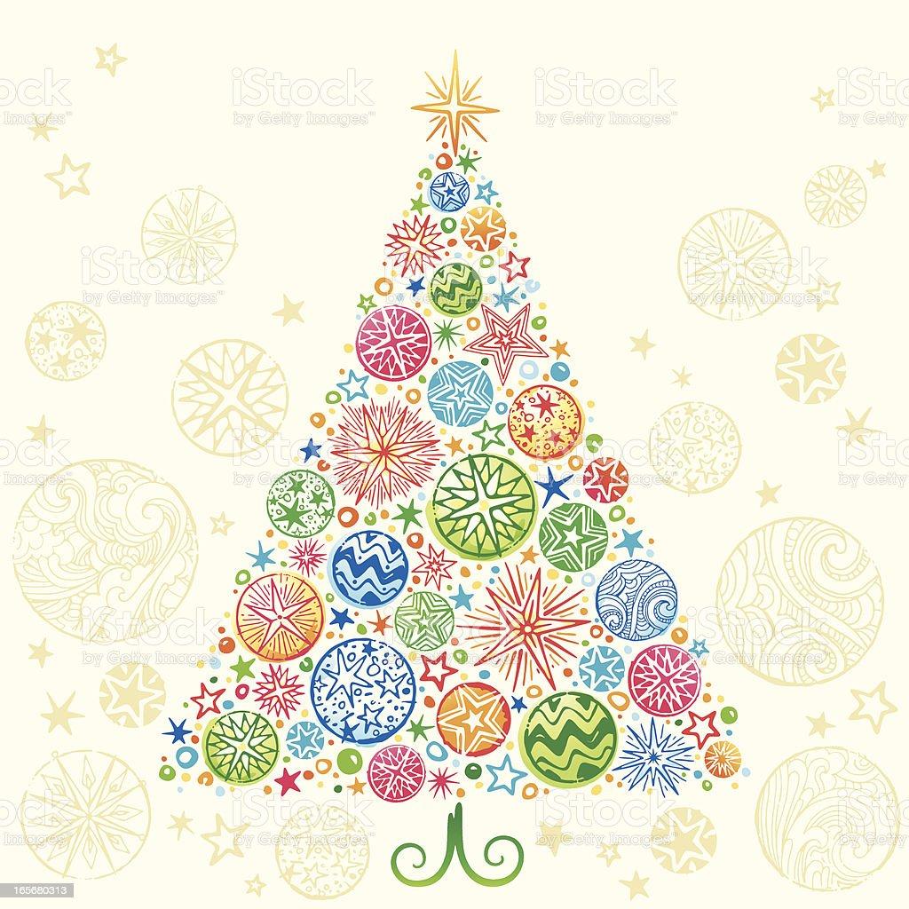 Retro Christmas Tree royalty-free stock vector art