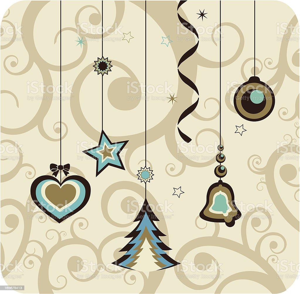 Retro Christmas royalty-free stock vector art
