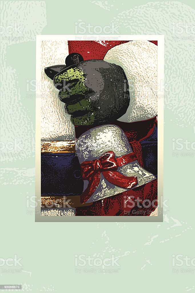 Retro Christmas royalty-free retro christmas stock vector art & more images of antique