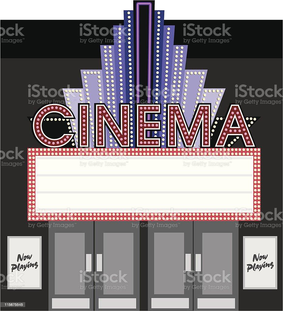 Retro Cinema Marque 1 royalty-free retro cinema marque 1 stock vector art & more images of advertisement