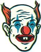 retro circus clown