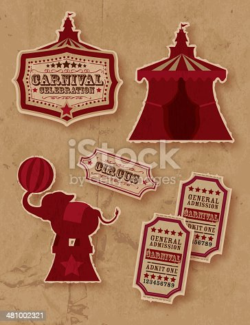 Retro Circus or carnival themed set