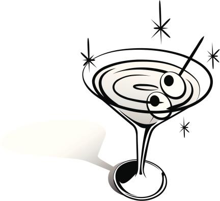 Retro Clip Art Martini