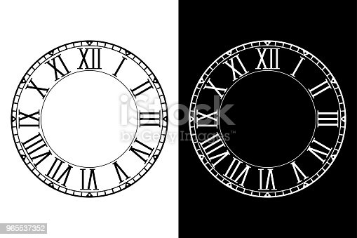 Free download of Roman Numeral Clock Face vector graphics