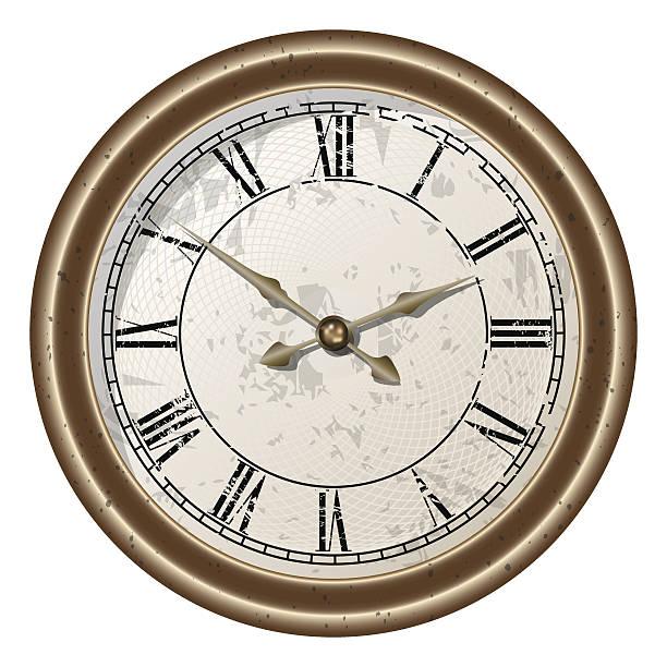 retro clock vector art illustration