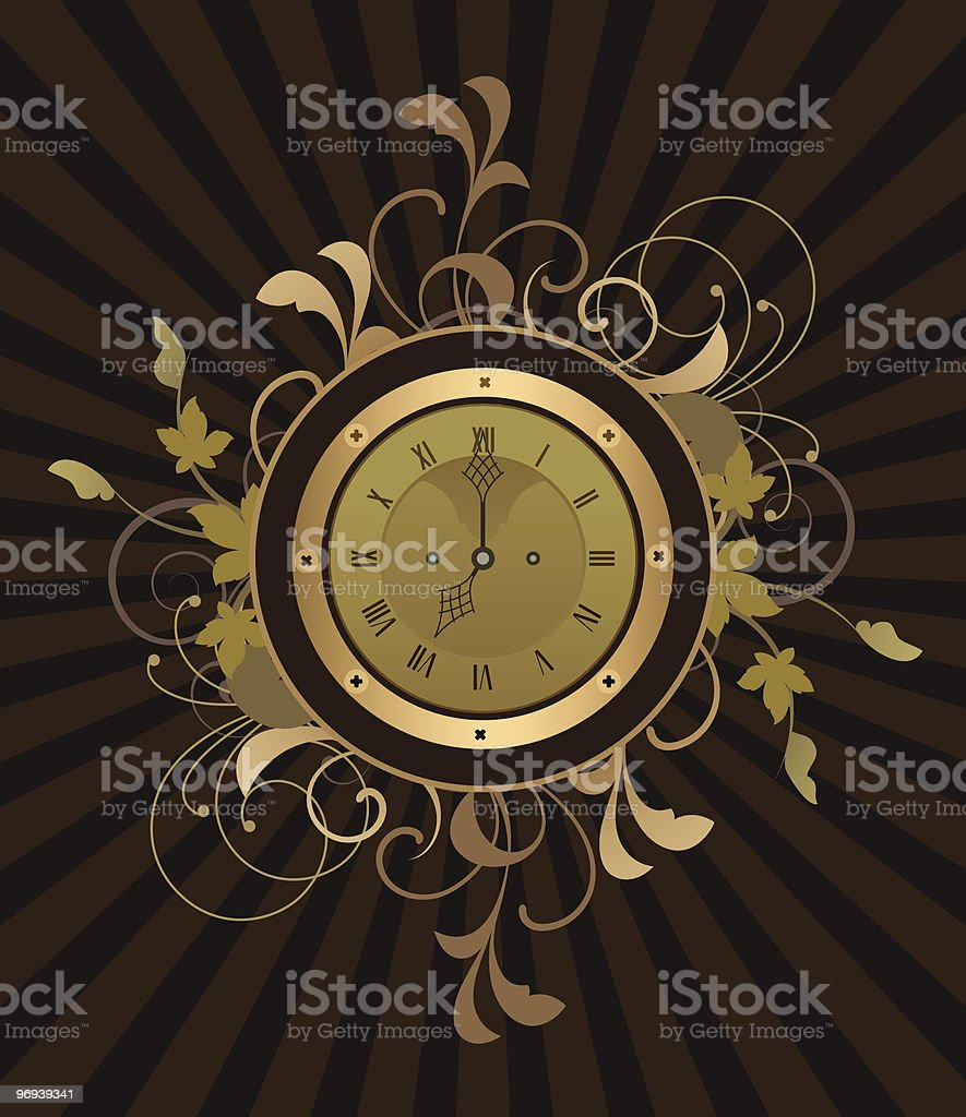 Retro clock royalty-free retro clock stock vector art & more images of abstract