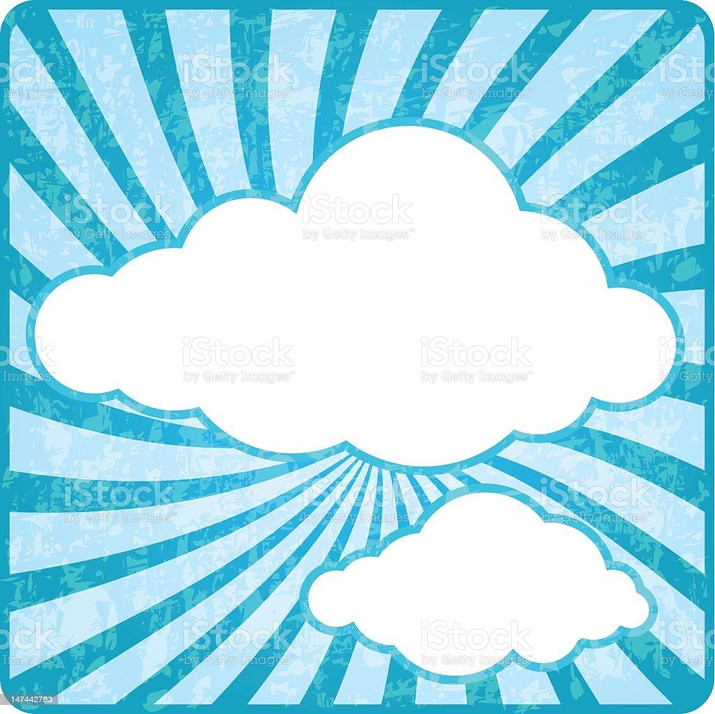 Retro cloud sky stock photo