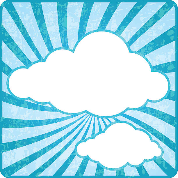 retro cloud sky - vectors stock pictures, royalty-free photos & images