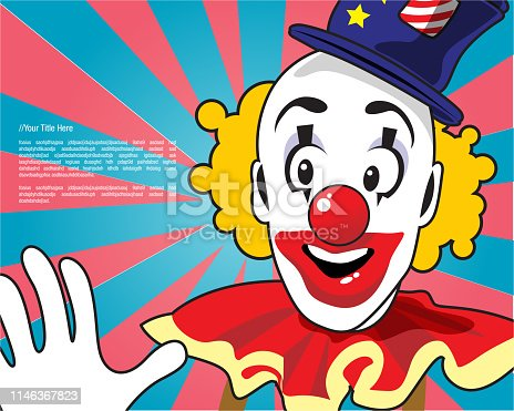 Retro clown design template