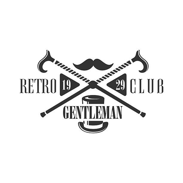 retro club label design - 1920 1929 stock illustrations