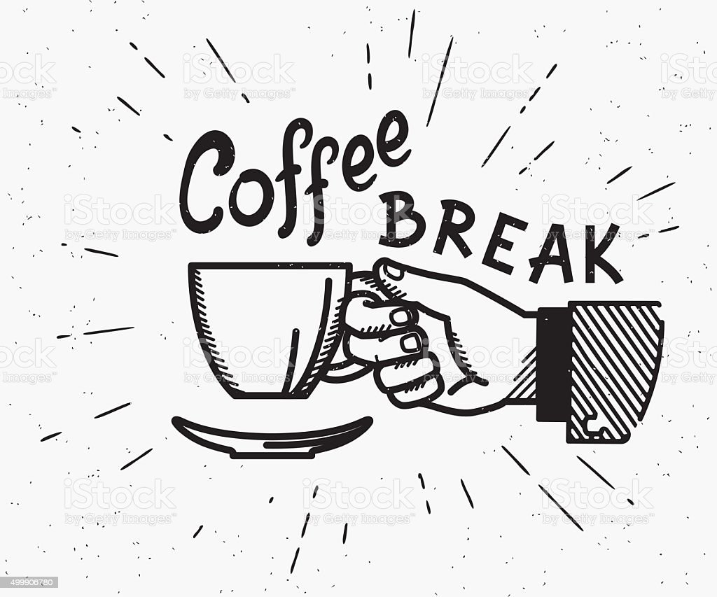 Retro coffee break crafted illustration vector art illustration