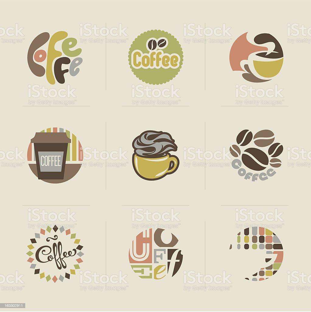Retro coffee emblems - set of vector design elements royalty-free retro coffee emblems set of vector design elements stock vector art & more images of badge